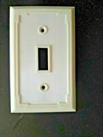 VINTAGE Single Gang Light Switch WALL PLATE NEW LEVITON 1-I Ivory Bakelite NEW