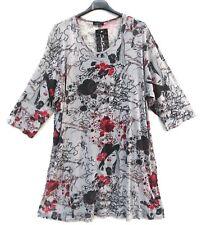 NEU SARAH SANTOS Tunika Shirt Tunic Tunique Tunica XL 48 50 Lagenlook **