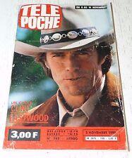 TELE POCHE  #769 05/11 1980 C. EASTWOOD AEROSMITH MOTO HONDA D'ABOVILLE BATEAU