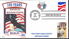 BSA  EAGLE SCOUT  NESA  100 YRS  BOY SCOUTS   FIRST EAGLE SCOUT ELDRED  FDC- DWc