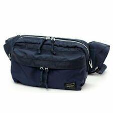 Yoshida Bag 2Way Fanny Pack WAIST Bag PORTER FORCE Navy 855-07501 w/ Tracking