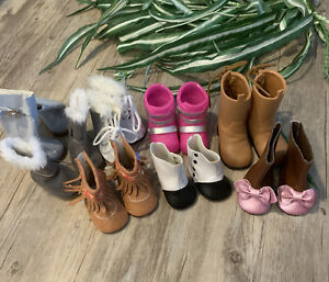 """18"""" Doll Shoes Battat Boots Our generation western cowgirlShoe Lot Fits 18"""""""