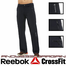 Reebok Men Sport Long Pants Shell Lightweight Slim Fit Running Bottom Jogging XS