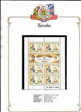 ROYAL WEDDING 1981 SHEETLET OF 10c VALUES TUVALU STAMPS