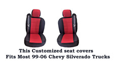 New Black/Red Mesh Custom seat covers Fit's 1999~2006 Chevy Silverado Truck's