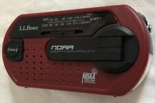 L.L. Bean WR200 NOAA Weather Radio Power Cord Maroon USB