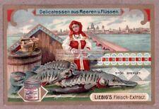 Sea Food Caviar Sturgeon Sterlet c1903 Trade Ad Card