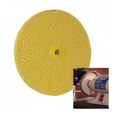 SISAL HARD BUFFING POLISHING WHEEL 150 MM 6″ WELD GRIND CLEANING BENCH GRINDE...