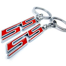 Chevy SS Keychain   Red/Chrome   Camaro, Impala, Cobalt, Silverado, Trailblazer