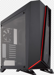 CORSAIR Carbide Series SPEC-OMEGA RED Tempered Glass Mid-Tower ATX Gaming Case