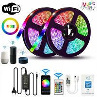 5M/10M Flexible Smart WIFI RGB/RGBW LED Strip Light for Alexa Google Home 12V