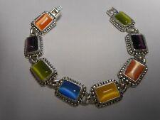Lollipop * Silver Tone Wow Premier Designs Jewelry Beautiful Bracelet *