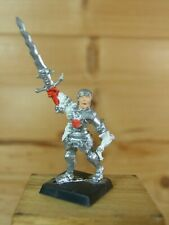 CLASSIC METAL WARHAMMER EMPIRE GREAT SWORD CHAMPION PAINTED (2240)