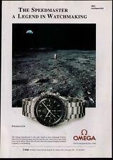 "2002 Omega Speedmaster ""Legend In Watchmaking"" Vintage Watch Print Advertisement"