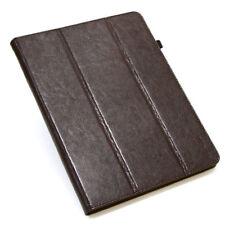 Cuero de Lujo Cubierta para Apple Ipad 2/3/4 Funda Protectora Tablet Case Marrón