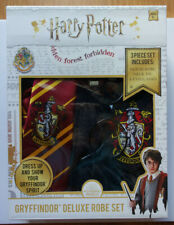 Harry Potter Kids 3 Piece Gryffindor Deluxe Robe Costume Set,Neck Tie,Eyeglasses