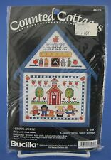Bucilla School House Counted Cross Stitch Kit #33470 Ruler Pencil Apple Children