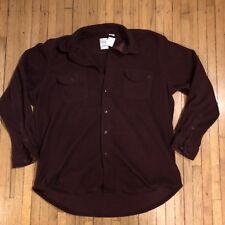 Chaps Maroon Micro Fleece Button Up with Pockets Size XL Long Sleeve Sweatshirt