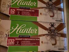 Hunter Highbury II 52 in. LED Indoor Brushed Nickel Ceiling Fan with Light Kit