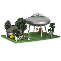 HO Scale Prelit Animated Tractor Beam UFO Martian Scene Multi Colored LED Light