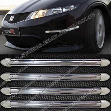 4 x Auto Furgone Cromato Look Anteriore Paraurti Posteriore Edge Protettore Parafango Guardie Strisce