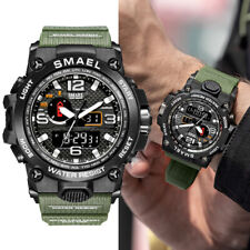 SMAEL Men's Sport Military Data Waterproof LED Digital Analog Quartz Wrist Watch