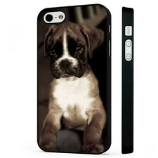 Cute Boxer Dog Puppy BLACK PHONE CASE COVER fits iPHONE