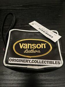 100% Authentic New Supreme X Vanson Leather Pouch Bag Black SS17