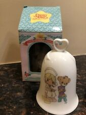Precious Moments Porcelin Heart-Handled Bell Nurse Great Condition With Box