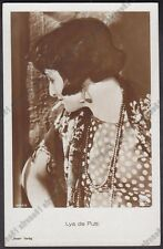 LYA DE PUTTI 29 ATTRICE ACTRESS CINEMA MUTO SILENT MOVIE STAR Cartolina FOTOGRAF