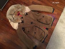 DSQUARED² RARE COTTON Ledereinsätze MANTEL JACKE FW 2004 GR. 48 71K038