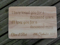 Personalised Wooden Engraved Plaque - Christina Perri  'A Thousand Years' Lyrics