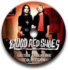 ROSSO sangue Scarpe INDIE ROCK CHITARRA schede tablature SONG BOOK CD software