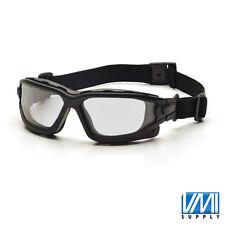 PYRAMEX I-FORCE Clear Anti-Fog Black Safety Glasses Goggles Dual Pane SB7010SDT