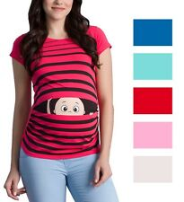 Umstandsmode T-Shirt Motiv| Schwangerschaft Geschenk | Guck Guck witzig Kurzarm