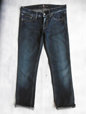 7 Seven for all Mankind Straight aged blue Jeans Hose 34 W26 W27/L29 1AZust.´209