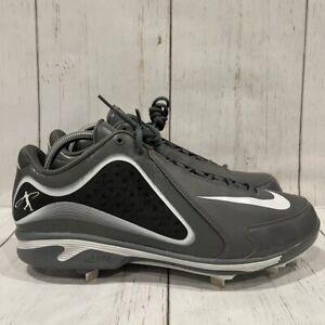 Nike Mens Swingman Mvp Baseball Shoes Gray 535837-015 Low Top Lace Up 13.5M New