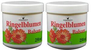 2x 250ml Herbamedicus Ringelblumensalbe Balsam Hautpflegelotion