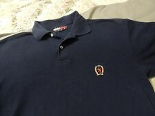 Tommy Hilfiger Designer Polo Golf Shirt Sewn Logo Near Mint Adult XL Navy Blue