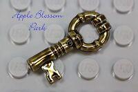 NEW Lego Minifig Antique GOLD KEY - Harry Potter Chrome Brass Treasure Chest Key