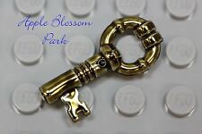 NEW Lego Minifig Antique GOLD KEY - Harry Potter Chrome Brass Treasure Chest Key