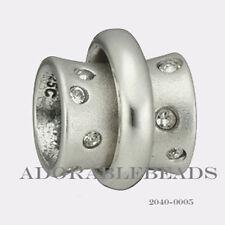 Authenitc Chamilia Soho Collection Silver Stella Clear CZ Bead 2040-0005 SALE!!!