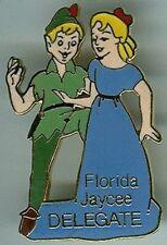 Disney Peter Pan & Wendy Florida Jaycees Delegate 1986 full body pin/pins