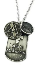 Firefly Serenity I Aim To MisBehave Pewter Finish Dog Tag NECKLACE