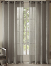 NEW Studio JCP Home Pearl Metallic Grommet Curtain Panel Gray Mist 50 x 84