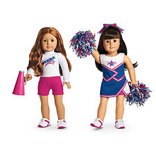 """American Girl MY AG 2 IN 1 CHEER GEAR for 18"""" Dolls Charm Pom Sport Retired NEW*"""