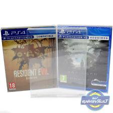 3 x PS3/PS4 Steelbook Game Box Protections forte 0.4 mm en plastique Pet Display Case