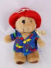 "Eden Paddington Bear Plush Aloha Shirt 9.5"" 1981 Has Issues"
