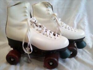 Riedell White Roller Skates Size M8 - UK 7