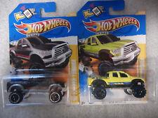 2x 2012 Hot Wheels - '10 TOYOTA TUNDRA | Yellow & Black | New Models